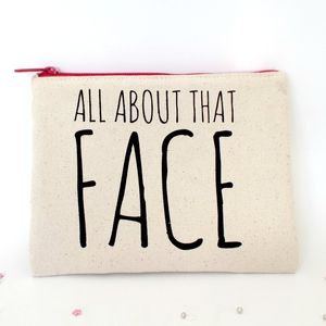 'About Face' Make Up Bag - gifts for teenage girls
