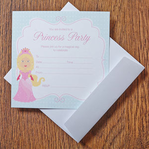 Princess Birthday Party Invitations - childrens party invitations