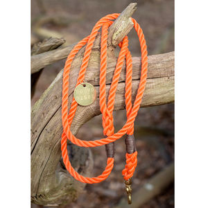 Handmade Rope And Brass Lead - walking