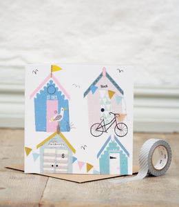 Cornish Huts Greetings Card