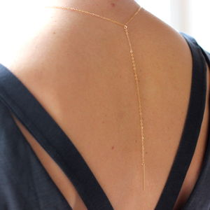 Delicate Gold Y Necklace