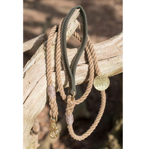 Handmade Natural Rope And Canvas Lead - dogs