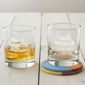 Personalised Prescription Whisky Glass - drink & barware
