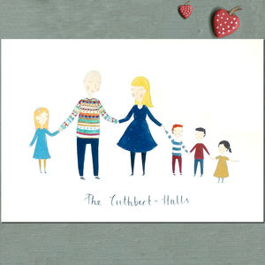 Personalised Family Portrait - canvas prints & art