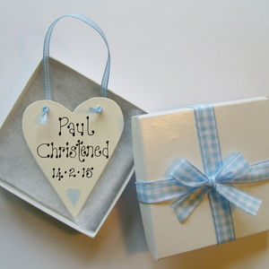 Personalised Christening Love Token - christening cards
