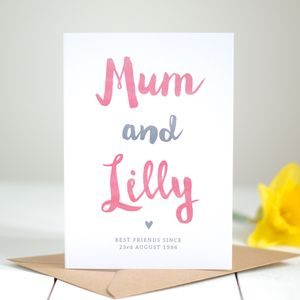 'Best Friends' Personalised Mother's Day Card