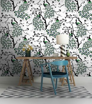 Peacock Wallpaper Colour (insitu)