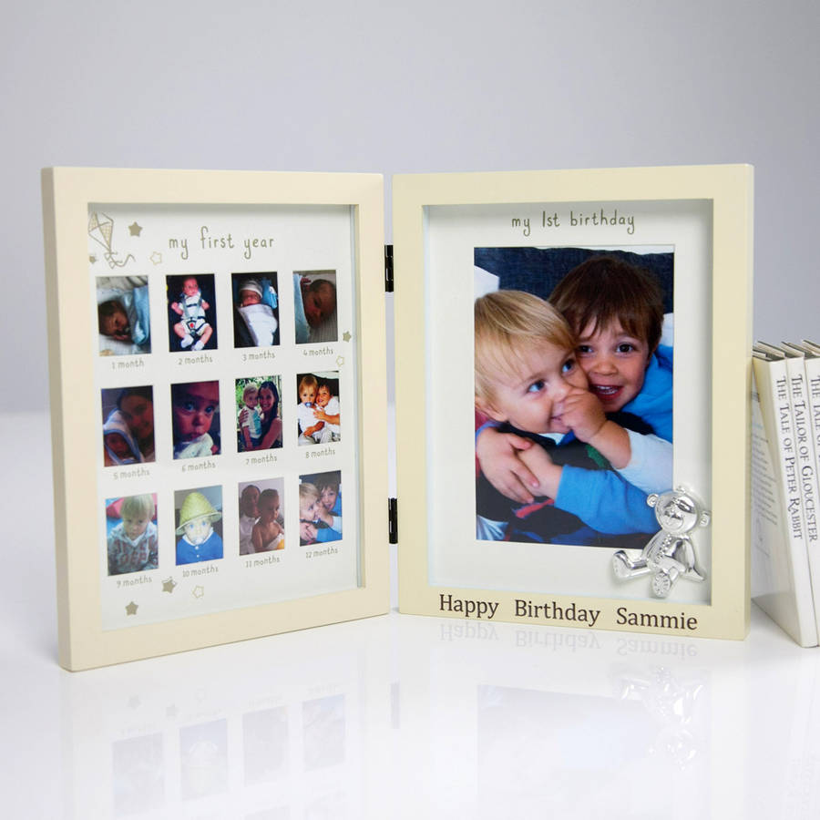 personalised \'my first year\' frame by my 1st years ...