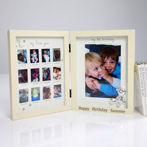Personalised 'My First Year' Frame - picture frames