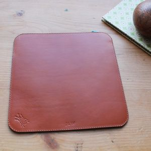 Personalised Leather And Suede Mouse Mat