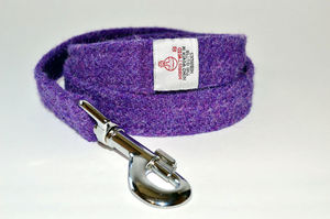 Harris Tweed Dog Lead - walking