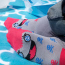Funny socks with a character called Miko