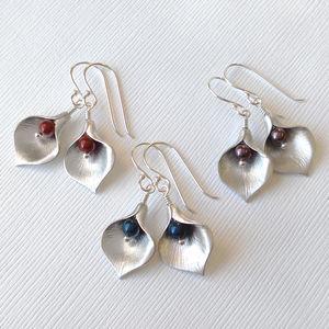 Calla Lily Jewel Earrings - new in jewellery