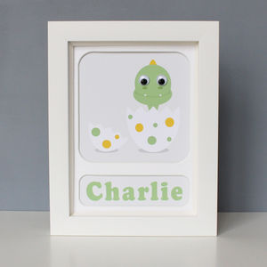 Personalised Framed Dinosaur Print - dinosaurs & monsters
