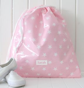 Personalised Oilcloth School Kit Bag