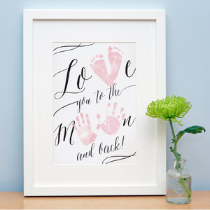 Love You To The Moon And Back - posters & prints