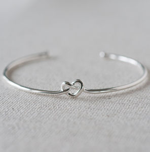 Knot Heart Bangle - bracelets & bangles