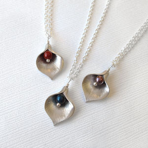 Calla Lily Jewel Necklace