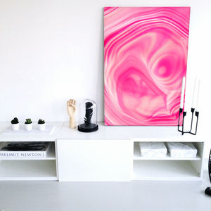 Bliss, Pink Abstract Canvas Art - modern & abstract