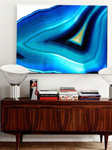 Timeless, Blue Abstract Canvas Art - home accessories