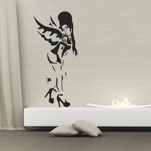 Banksy Amy Winehouse Wall Sticker - living room