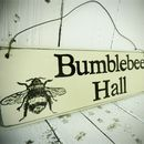 Personalised House Sign With Hand Painted Design