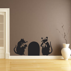 Banksy Bouncer Rats Wall Sticker - kitchen