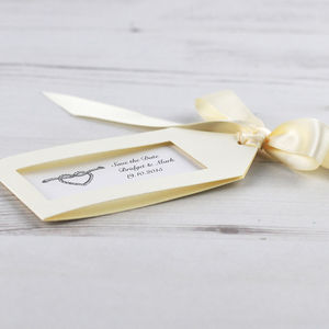 Save The Date Tags, Ribbon With Envelopes