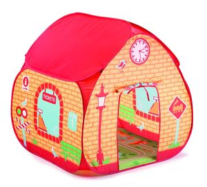Train Station Pop Up Tent With Floorprint - outdoor toys & games