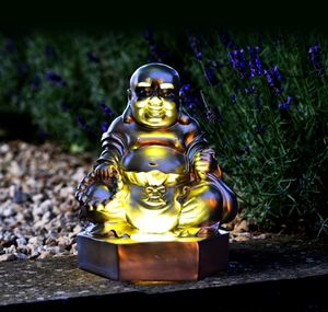 Golden Buddha Figurine Solar Light - lights & lanterns