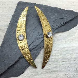 Tribal Statement Crystal Stud Earrings - statement jewellery