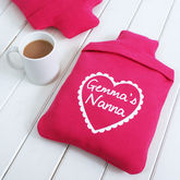 Personalised Love Heart Hot Water Bottle Cover - health & beauty