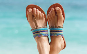 Monika Turquoise Sandal - women's fashion