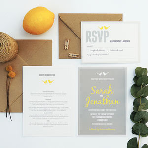 Love Bird Wedding Invitation - invitations