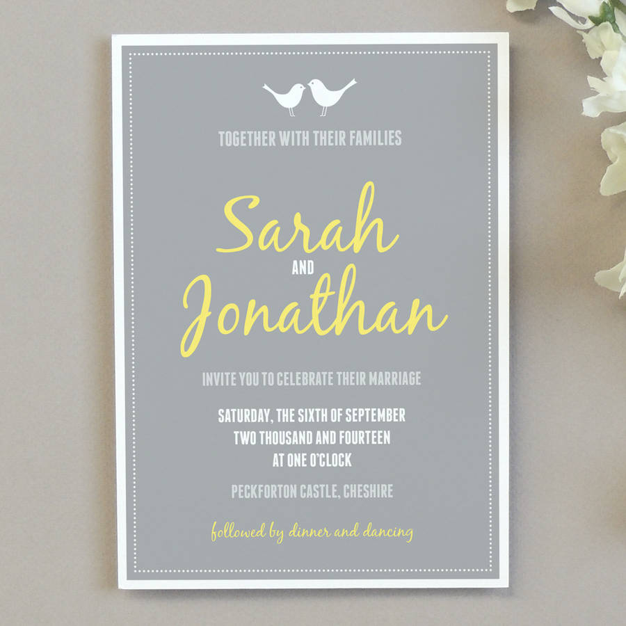 wedding invitation email free%0A Love Bird Wedding Invitation