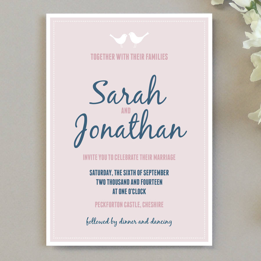Etonnant Love Bird Wedding Invitation