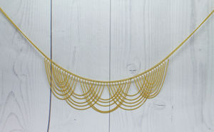 18ct Gold Wave Necklace