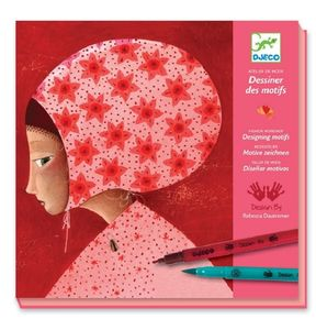 Djeco Felt Tip Drawing Patterns - books