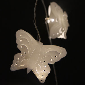 Paper Butterfly Fairy Lights