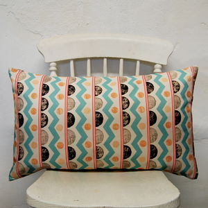 Large Rectangle Farm Aztec Cushion - living room