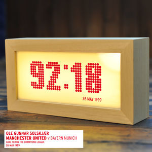 Football Score Time Lightbox - lighting