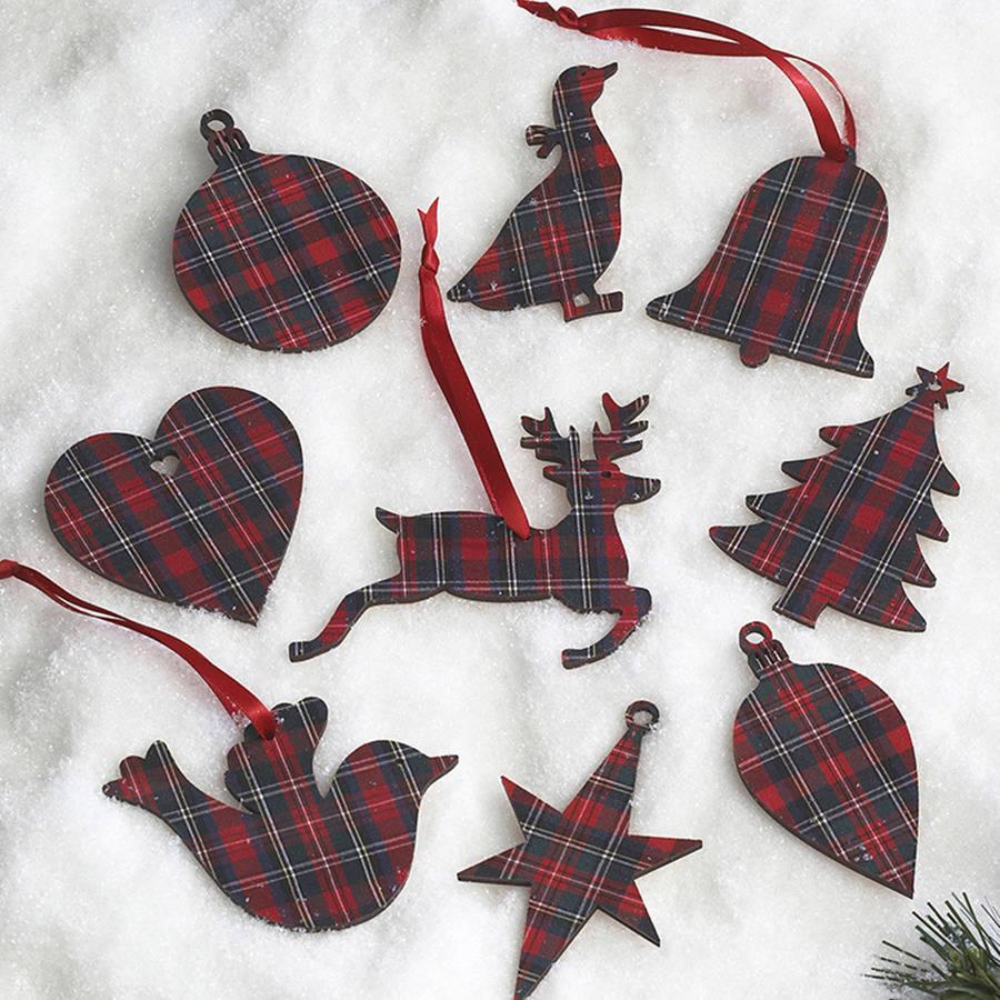 Prince Christmas Decorations.Tartan Christmas Decorations