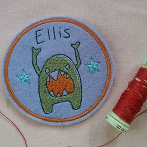 Personalised Embroidered Monster Name Patch