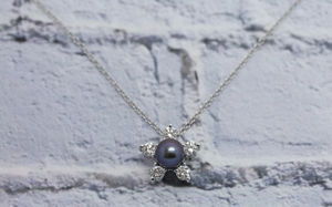 Primrose Diamond And Pearl Pendant - necklaces & pendants