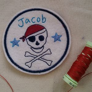 Personalised Embroidered Pirate Name Patch