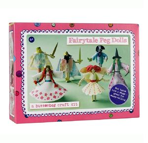 Buttonbag Fairytale Peg Doll Kit - school holiday activities