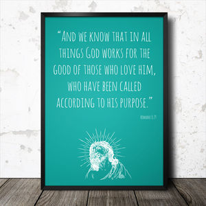 Personalised Bible Quote Poster