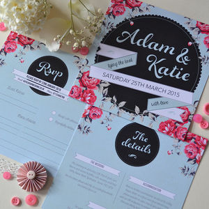 Sweet Florals Wedding Invitation