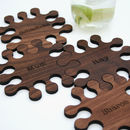 Personalised Walnut Jigsaw Coasters