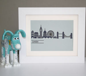 Paper Cut London Skyline Picture